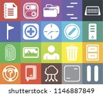 set of 20 icons such as pause ...