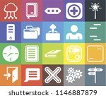 set of 20 icons such as street  ...