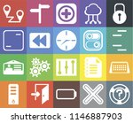 set of 20 icons such as help ...