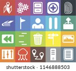 set of 20 icons such as note ...