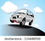 vector car in the road | Shutterstock .eps vector #114688930