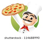 italian chef presenting a... | Shutterstock .eps vector #114688990