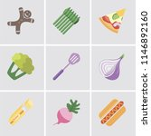set of 9 simple editable icons... | Shutterstock .eps vector #1146892160