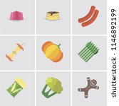set of 9 simple editable icons... | Shutterstock .eps vector #1146892199