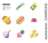 set of 9 simple editable icons... | Shutterstock .eps vector #1146892316