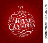 Merry Christmas Ball Typograph...