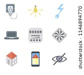 set of 9 simple editable icons...   Shutterstock .eps vector #1146894770