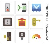 set of 9 simple editable icons... | Shutterstock .eps vector #1146894833
