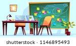 kanban board at workplace... | Shutterstock .eps vector #1146895493