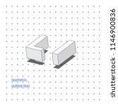isometric outline 3d text.... | Shutterstock .eps vector #1146900836