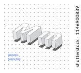 isometric outline 3d text.... | Shutterstock .eps vector #1146900839