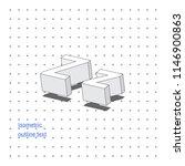 isometric outline 3d text.... | Shutterstock .eps vector #1146900863