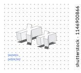 isometric outline 3d text.... | Shutterstock .eps vector #1146900866