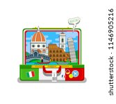 concept of travel to italy or... | Shutterstock . vector #1146905216