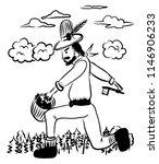 drawing picture huge lumberjack ...   Shutterstock .eps vector #1146906233