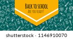 back to school banner with... | Shutterstock .eps vector #1146910070