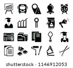 set of 20 icons such as school...