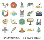 set of 20 icons such as space...