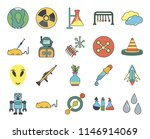 set of 20 icons such as drops ...