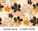 fall leaves seamless pattern... | Shutterstock .eps vector #1146917696