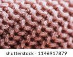 full frame image of pink woolen ... | Shutterstock . vector #1146917879