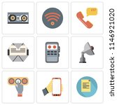 set of 9 simple editable icons...   Shutterstock .eps vector #1146921020