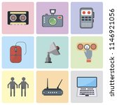 set of 9 simple editable icons...   Shutterstock .eps vector #1146921056