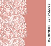 seamless lace border. vector... | Shutterstock .eps vector #1146922016