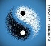 yin yang symbol. vector.   Shutterstock .eps vector #114692818