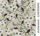 seamless floral pattern.... | Shutterstock .eps vector #1146934040