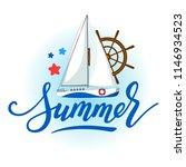 marine logo with white sport... | Shutterstock .eps vector #1146934523