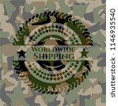 worldwide shipping on... | Shutterstock .eps vector #1146935540