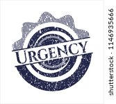 blue urgency distressed with... | Shutterstock .eps vector #1146935666