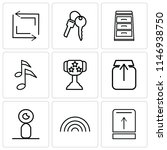 set of 9 simple editable icons...   Shutterstock .eps vector #1146938750