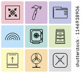 set of 9 simple editable icons...   Shutterstock .eps vector #1146938906
