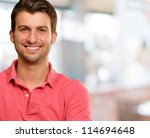 portrait of young man smiling ... | Shutterstock . vector #114694648