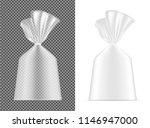 transparent blank foil or paper ... | Shutterstock .eps vector #1146947000