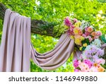 detail of a wedding arch.... | Shutterstock . vector #1146949880
