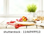 tasty continental breakfast and ... | Shutterstock . vector #1146949913
