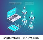 cryptocurrency and blockchain...   Shutterstock .eps vector #1146951809
