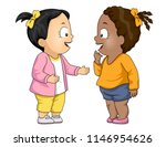 illustration of kids girl... | Shutterstock .eps vector #1146954626