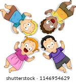 illustration of kids toddlers... | Shutterstock .eps vector #1146954629