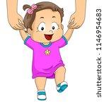 illustration of a kid girl... | Shutterstock .eps vector #1146954683