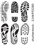 shoe prints set vector images | Shutterstock .eps vector #1146955280