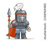 spear warrior guardian fantasy... | Shutterstock .eps vector #1146965483