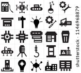 set of 25 icons such as tool...
