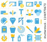 set of 25 icons such as opacity ...