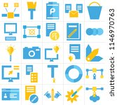 set of 25 icons such as ...
