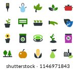 colored vector icon set   leaf... | Shutterstock .eps vector #1146971843