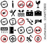 set of 25 icons such as fire ...
